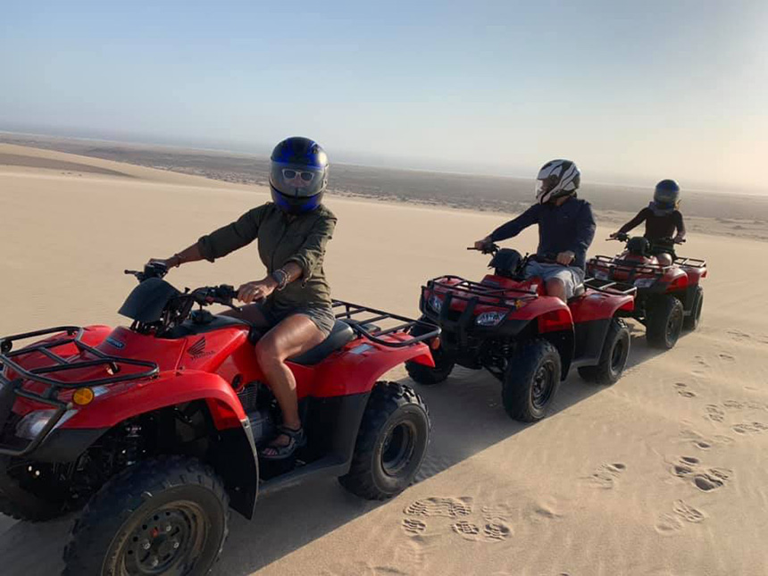 Quad biking on the dunes, Skeleton Coast
